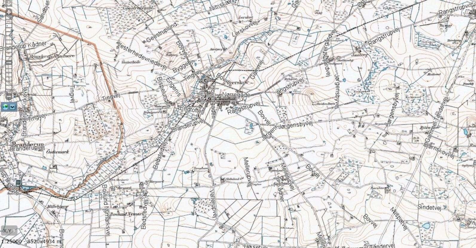 Smedebækken kort fra Lifa's 2