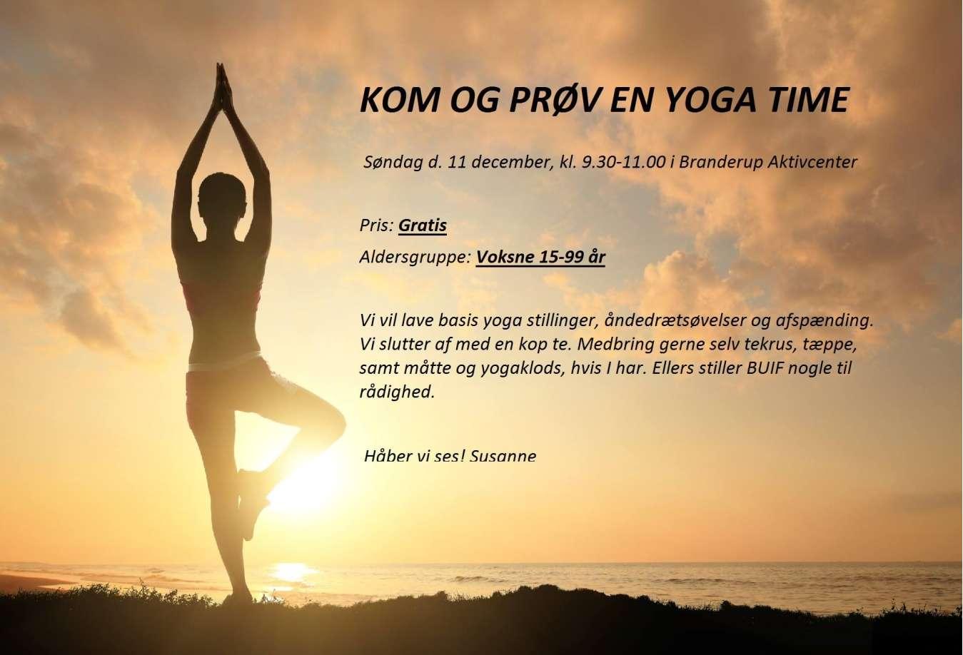 Gratis Yoga testtime