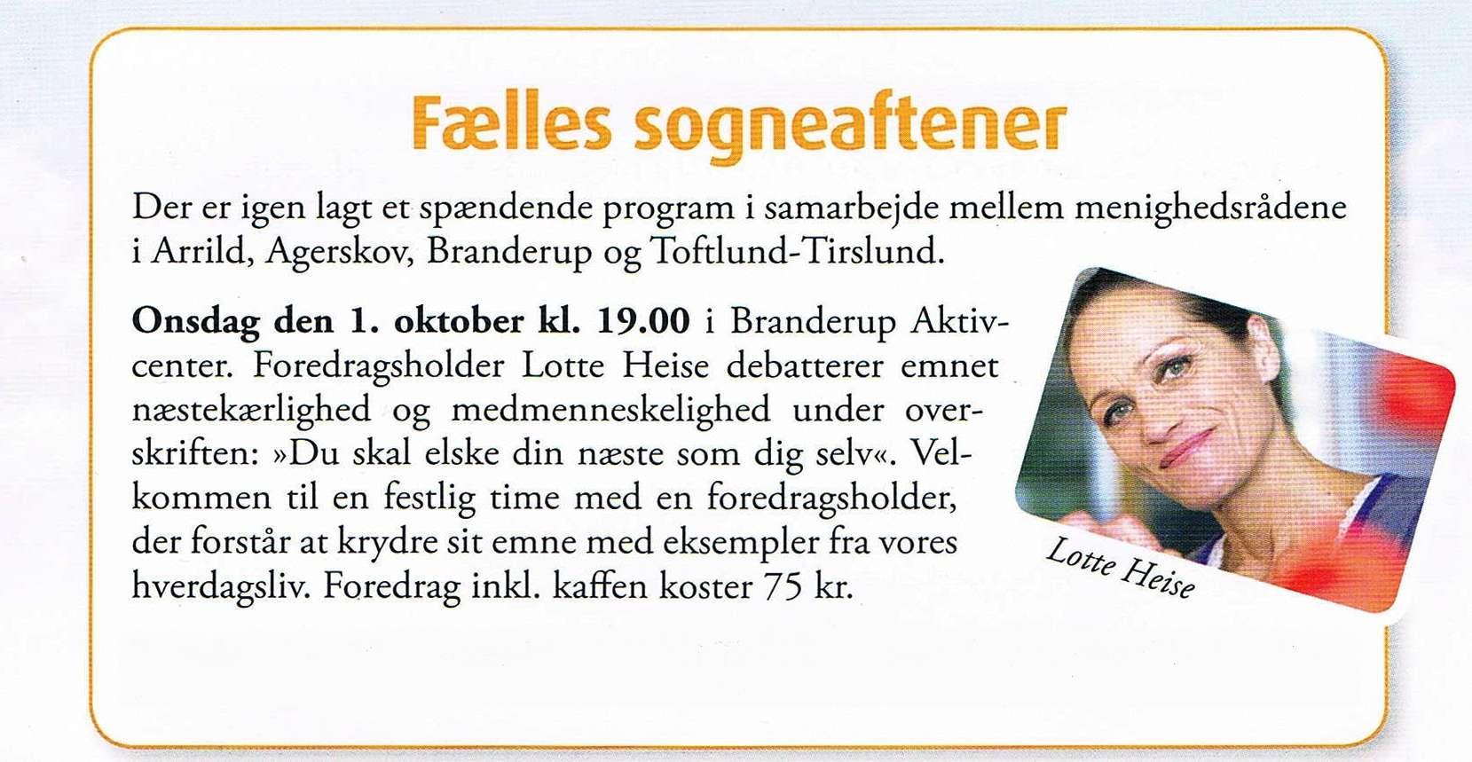 Kirkeblad Toftlund Lotte Heise